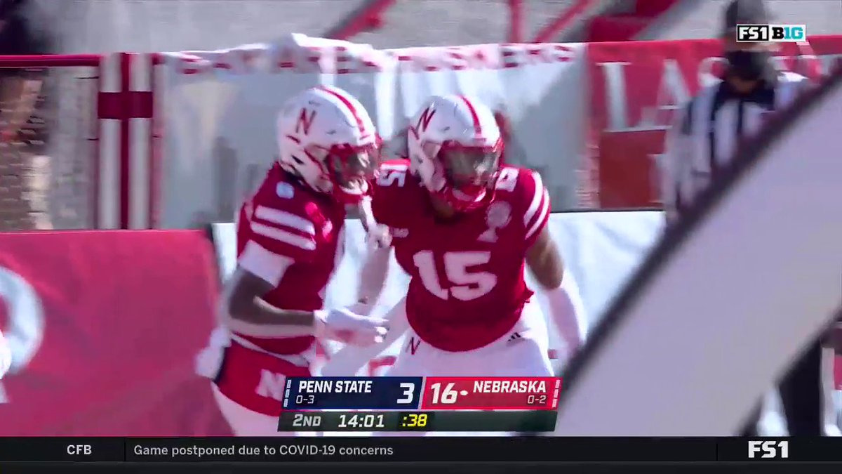 Congratulations Bellevue West grad @zavierbetts1 on an awesome TD run! #GBR