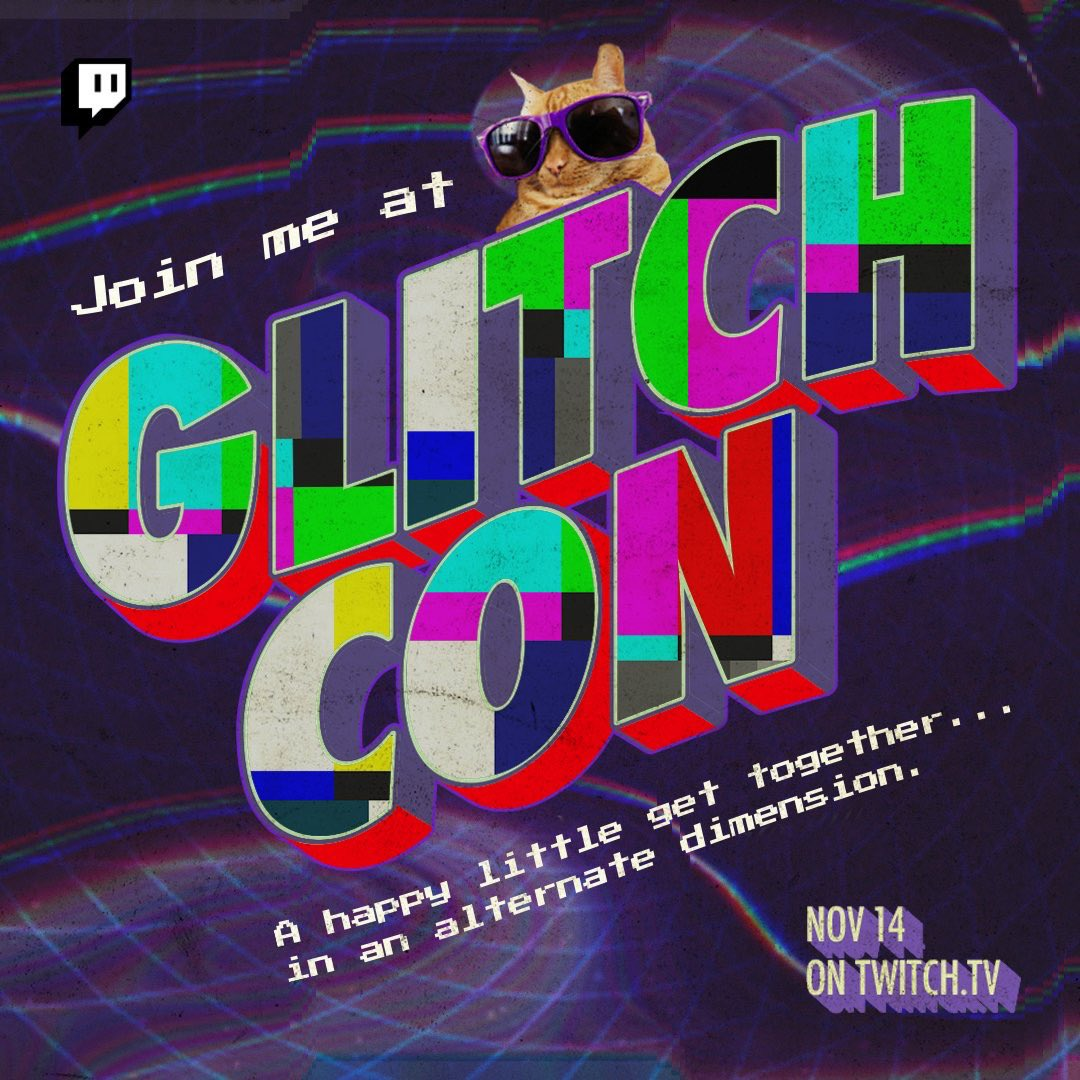 Carlee - hi i'll be live with glitchcon ft. fortnite in a few minutes! see u there :)