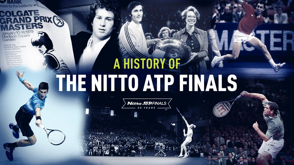 Celebrating 50 years.  Read & Watch Tribute:   #NittoATPFinals #ATPHeritage #tennis