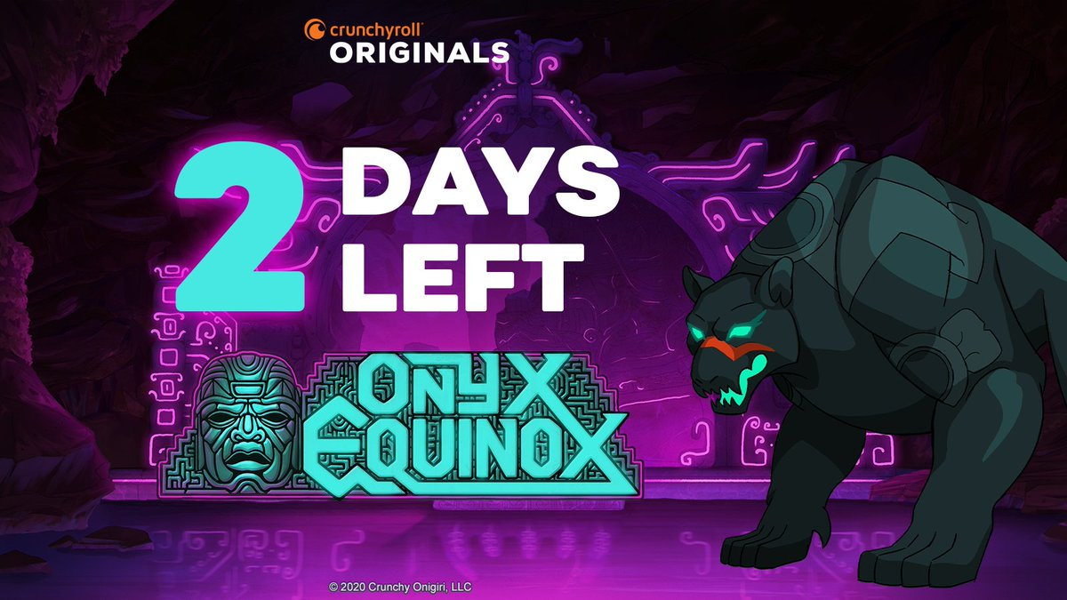 Only 2 days left for you to accept your destiny. Onyx Equinox premieres on @Crunchyroll this Saturday.