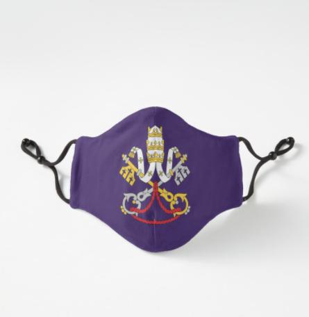 Catholic Face Mask For Advent or Lent VIEW>>  - MORE CATHOLIC FACE MASKS >>   #CatholicTwitter #catholicism #CatholicChurch #WearAMask #MaskUp #COVID19 #coronavirus  #catholiclife #catholicsfortrump