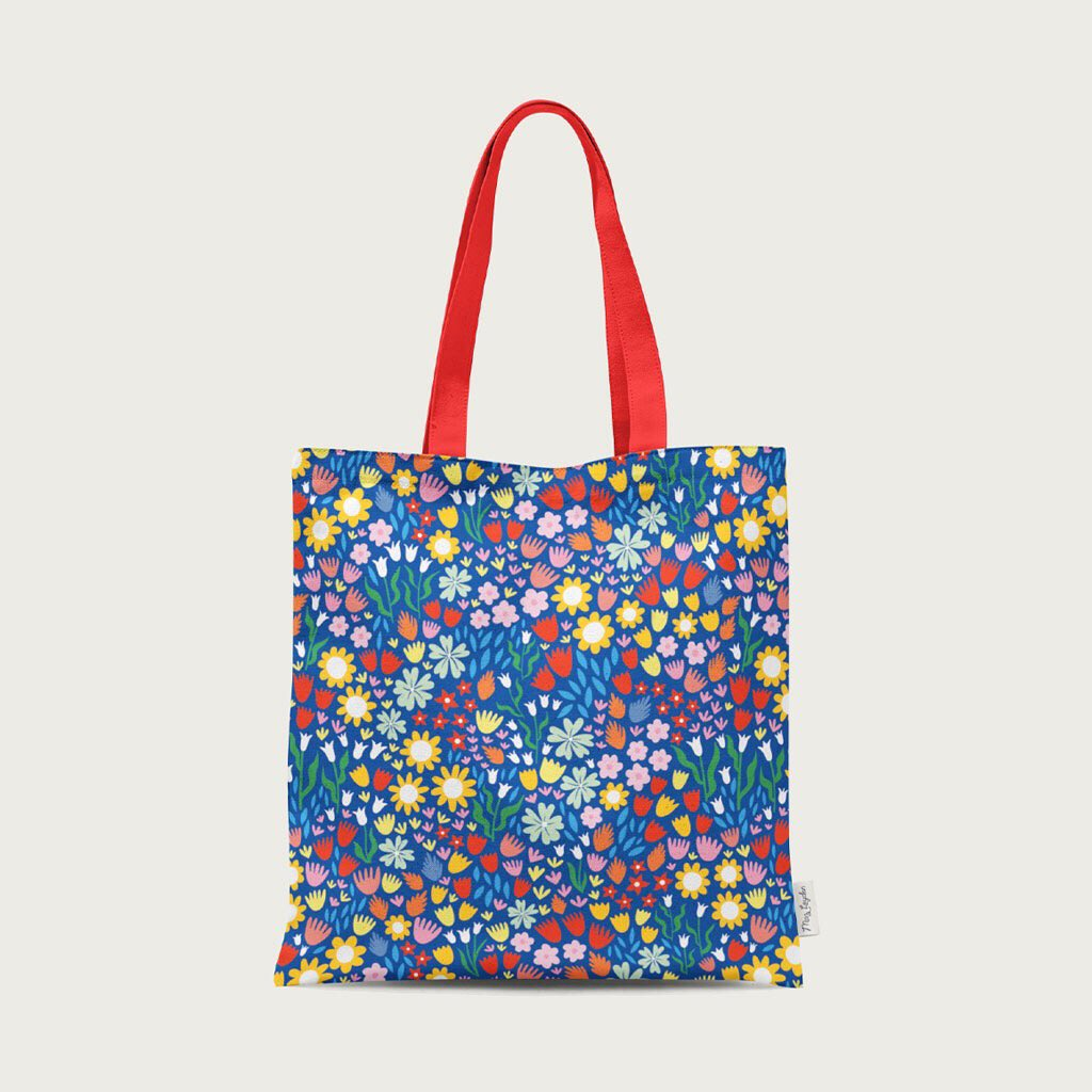 Colourful totes available in my shop   #smallbusinesssunday #UKGiftAM #SundayMorning #gift #shopindie #flowers #sundayvibes