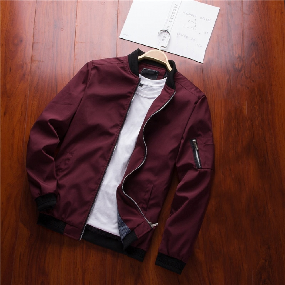 Fashion Spring Casual Men's Pilot Jacket #friends #cool