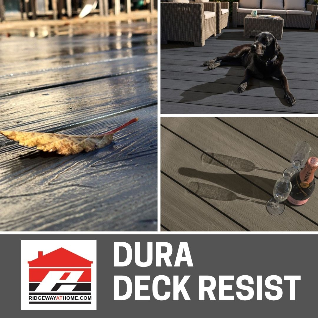 Dura Deck Resist features the most beautiful surface and was designed too achieve the most natural wood look on the market.  Want to know more, get in touch with our technical team they will be happy to help  #Dura #Decking  #WPC #ridgewayathome