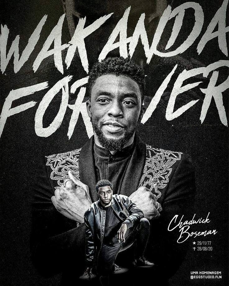 In the living memory of the King Chadwick Boseman👑. Remembering him on his 44th birthday.  #WakandaForever  #ChadwickForever