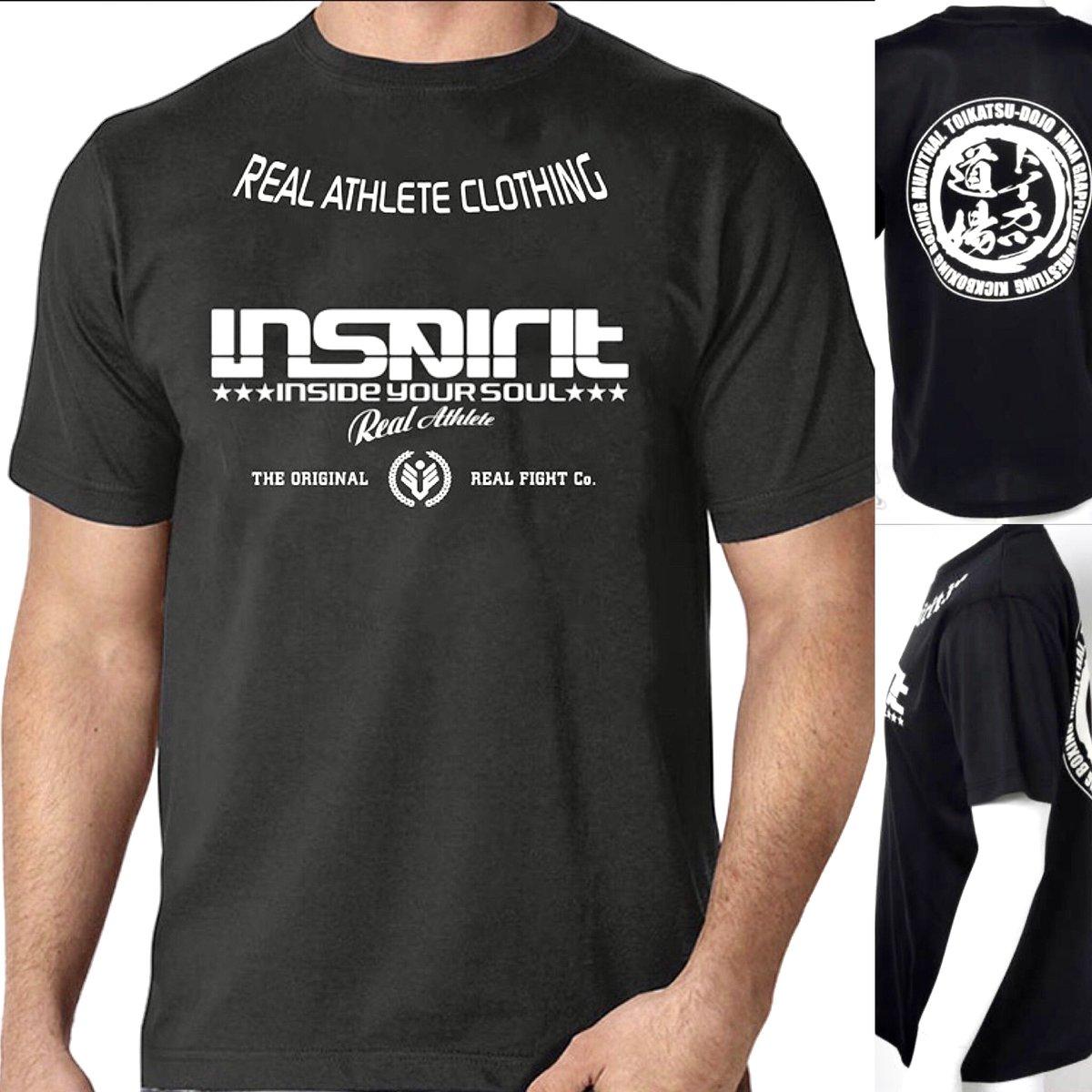 「格闘技を着る」 トイカツ✖INSPIRIT オリジナルコラボTシャツ  シーンを選ばないドライ素材で汗をかいても快適な着ごこち。  お取り扱いは 各店舗、オンラインストア   #格闘技 #inspirit #トイカツ道場 #トレーニング #かっこいい #mma #kickboxing #boxing