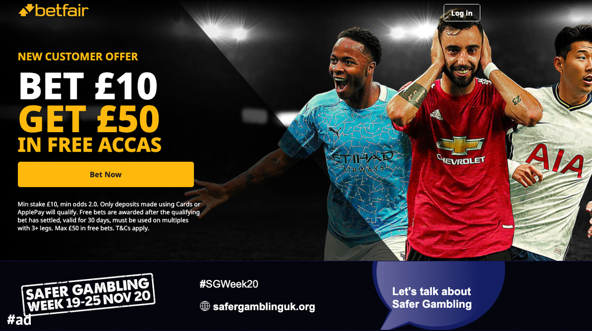 🙌 GET £50 IN FREE ACCAS TODAY 🙌  ⚽️ Bet £10 on Football today, 💰 Get £50 in free accas!  Get them here 👇   18+   New Customers   T+Cs Apply   #ad   BeGambleAware