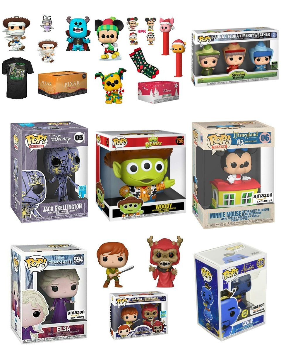 """CYBER MONDAY FUNKO AMAZON Great Deals! Make sure to check them out #AD  . Disney Collector Boxes 20.99 Minnie 6.99 Fairy Godmothers 24 Jack Skellington 11.99 Black Cauldron 13.99 10"""" Alien Woody 25 Genie, Elsa 7.99 And More . #Funko #serlentpops #serlent"""