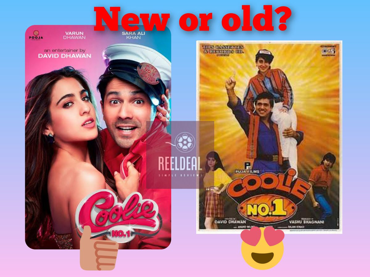 Same plot, same dialogues, same songs, same title!  What can be the new in this film except for actors?? . . . . . P.S. Coolie No.1 (1995) was also a remake of a south film! 😬  #bollywood #remake #starkid #CoolieNo1 #varundhawan #Govinda #DavidDhawan #films #comedy
