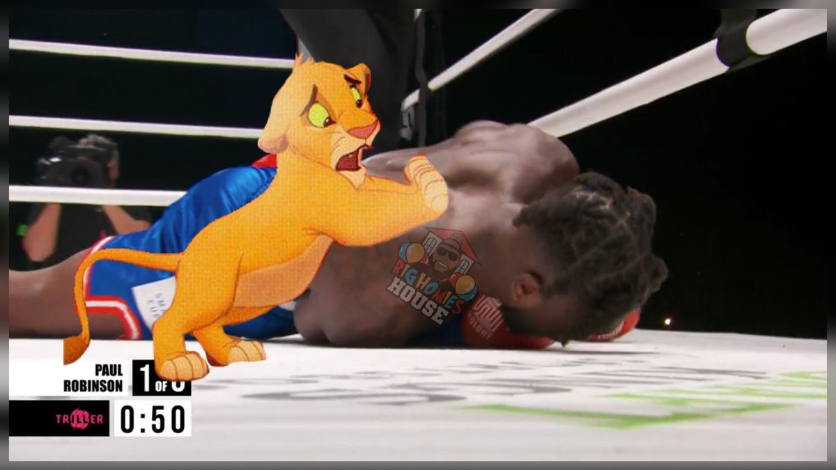 Fucking clown can't for him to get knocked tf out