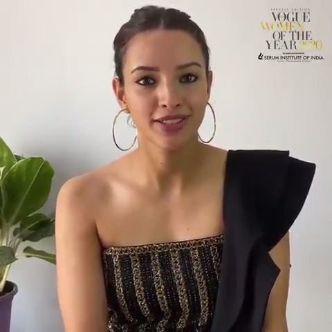 Watch our Spotlight of the year, @tripti_dimri23 accept her award in the Headliners category at #VogueWOTY2020. In Netflix's #Bulbbul, the 25-year-old cranked up her performance to eleven for her titular lead.