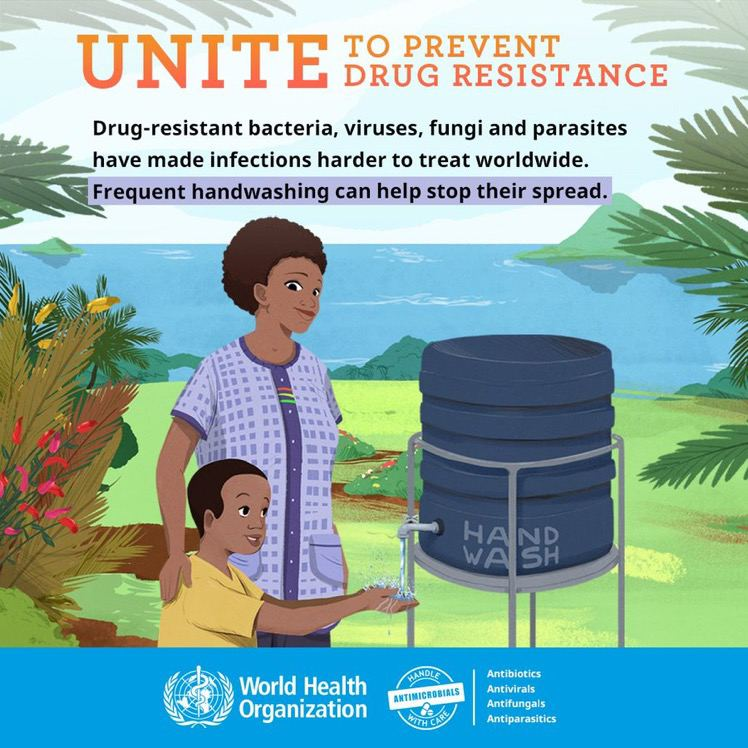 A clean environment & proper hygiene help protect our children from infectious diseases.  Reduce the need to use antimicrobials to treat infections & curb the spread of #AntimicrobialResistance among children.  #BeAntibioticsAware #WorldChildrensDay #NAAW2020