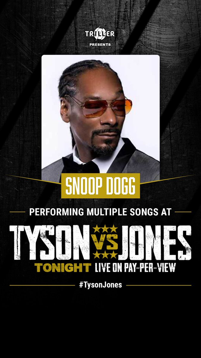 Replying to @triller: Should we add best sports commentator?! @SnoopDogg 🐐 #TysonJones #Triller
