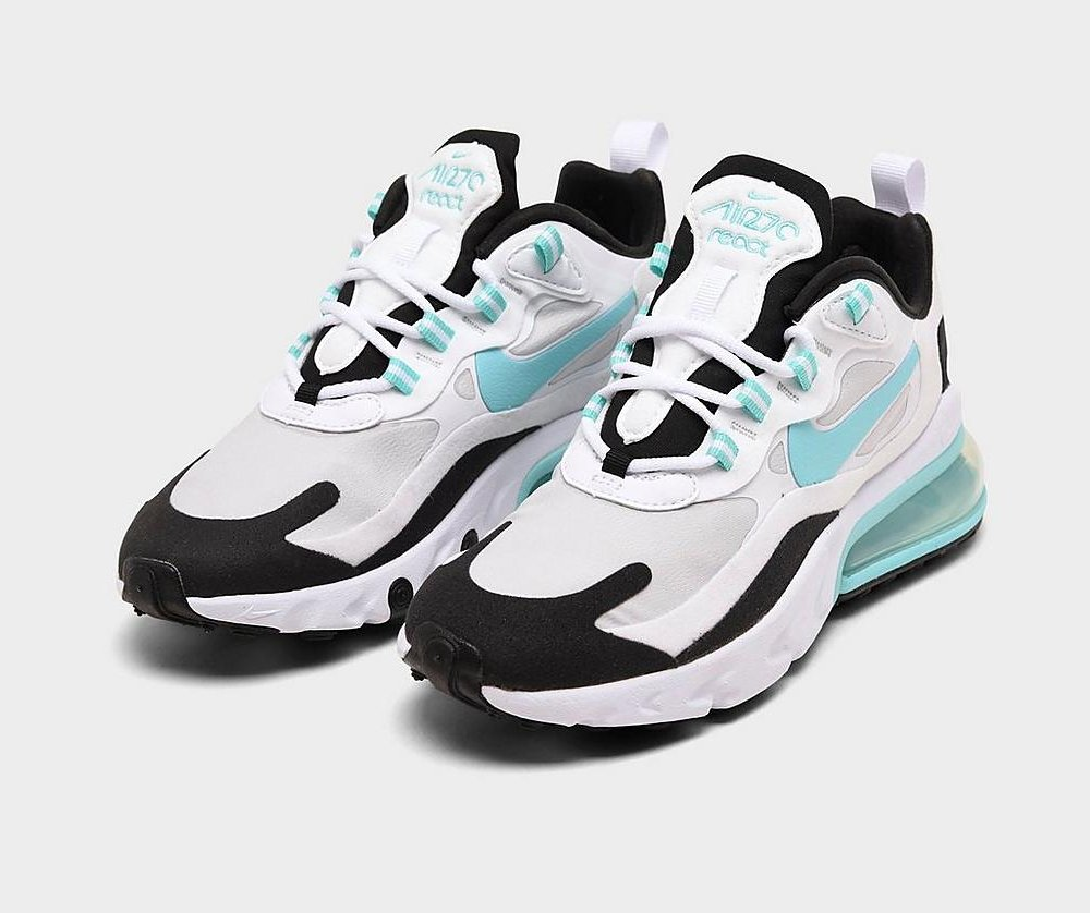 #ad The Nike Women's Air Max 270 React SE 'White/Aurora Green/Black' is now available via @FinishLine for $112! (use code CYBER30 - retail $160) #SneakerScouts @Nike