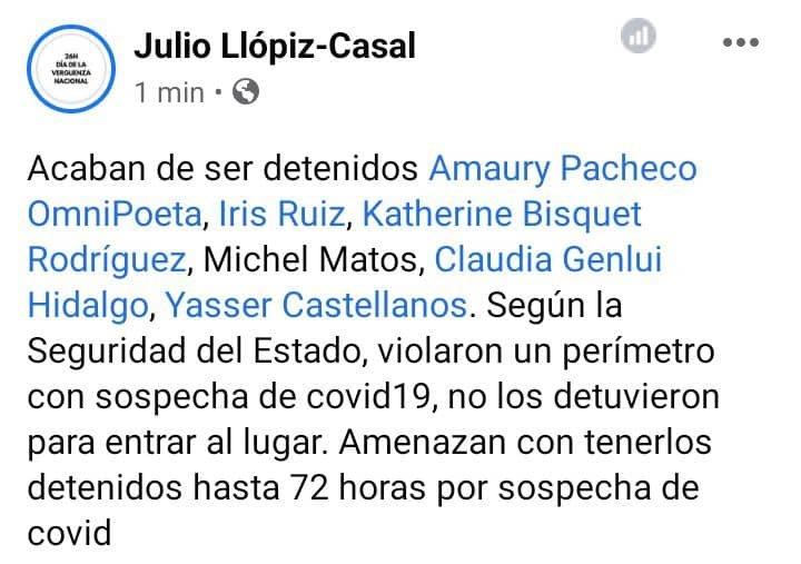 #Cuba ¿Los #EsbirrosDeCastro que desalojaron cobardemente a los jóvenes del @Mov_sanisidro también están aislados o siguen como sospechosos de #COVID19 sueltos reprimiendo la libertad de los cubanos? @jllopizcasal #TodosSomosSanIsidro