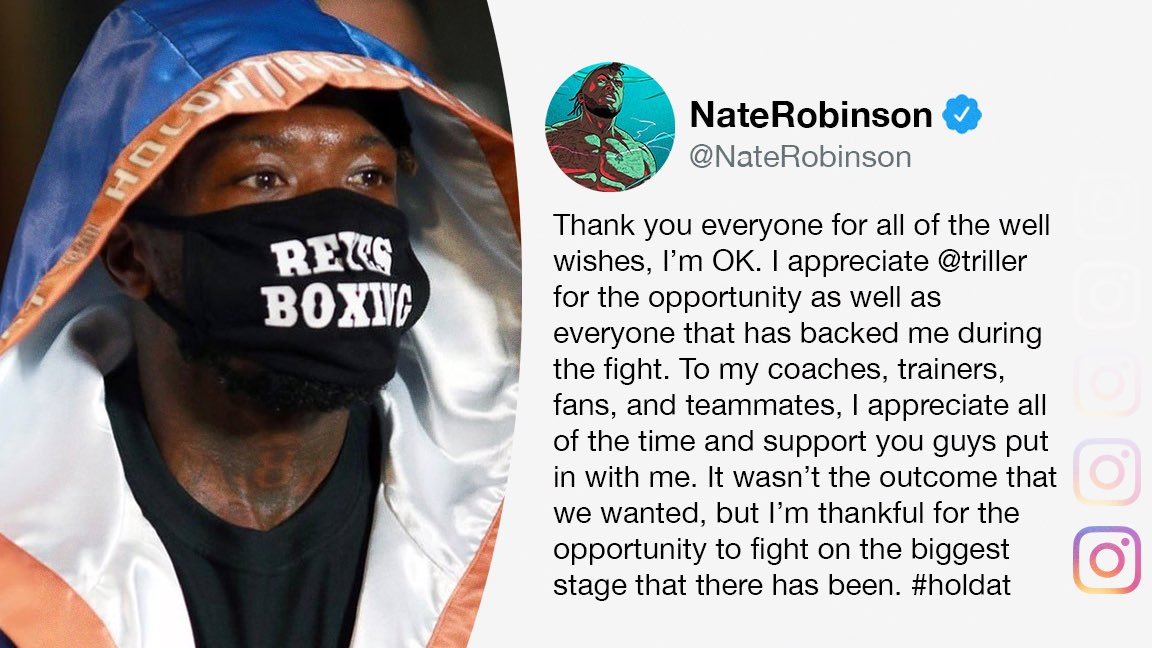 Nate Robinson let everyone know he's okay after his loss to Jake Paul. #TysonJones @ESPNRingside   (via @nate_robinson)