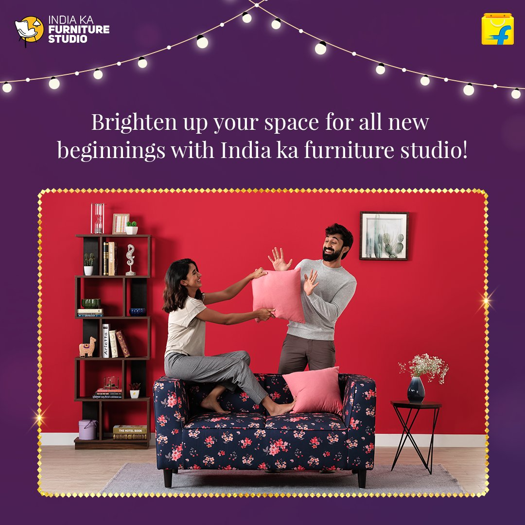 Get ready to embrace new beginnings at home. Add a little more love to your space and to your life with the largest range of quality furniture, with Flipkart Furniture, India Ka Furniture Studio.  Shop Now: