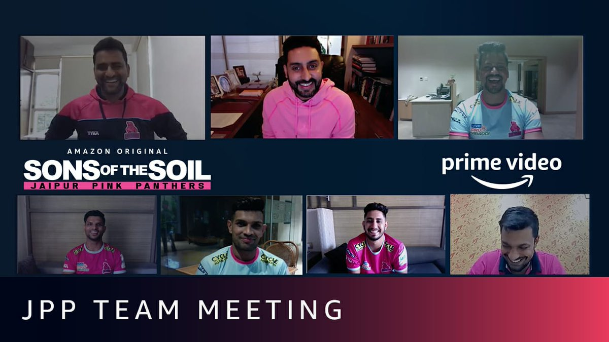 It was so much fun catching up with the boys, especially since we haven't seen each other in so long! #SonsOfTheSoil, New Series, Dec 4 on @PrimeVideoIN.   📽️:   @JaipurPanthers @DeepakHooda5555 @Lsrinivasreddy9 @Sandeep_Dhull_4 @nitinrkabaddi @ProKabaddi
