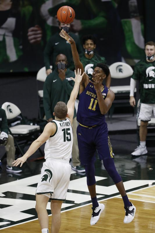 No. 13 Michigan State rolls past visiting Notre Dame https://t.co/nQcsKhZc51 https://t.co/EW8WbOUQuD