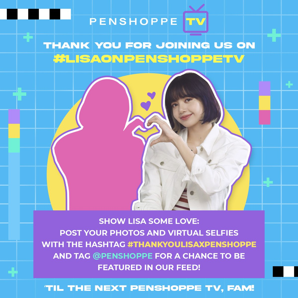 Sending our huge thanks to everyone who joined us on our very first Penshoppe TV, and of course to #LISA for spending her time with us!!✨   Let's show Lisa our love!  🤳 Share your photos with the hashtag #ThankYouLisaxPenshoppe for a chance to be featured in our feed!