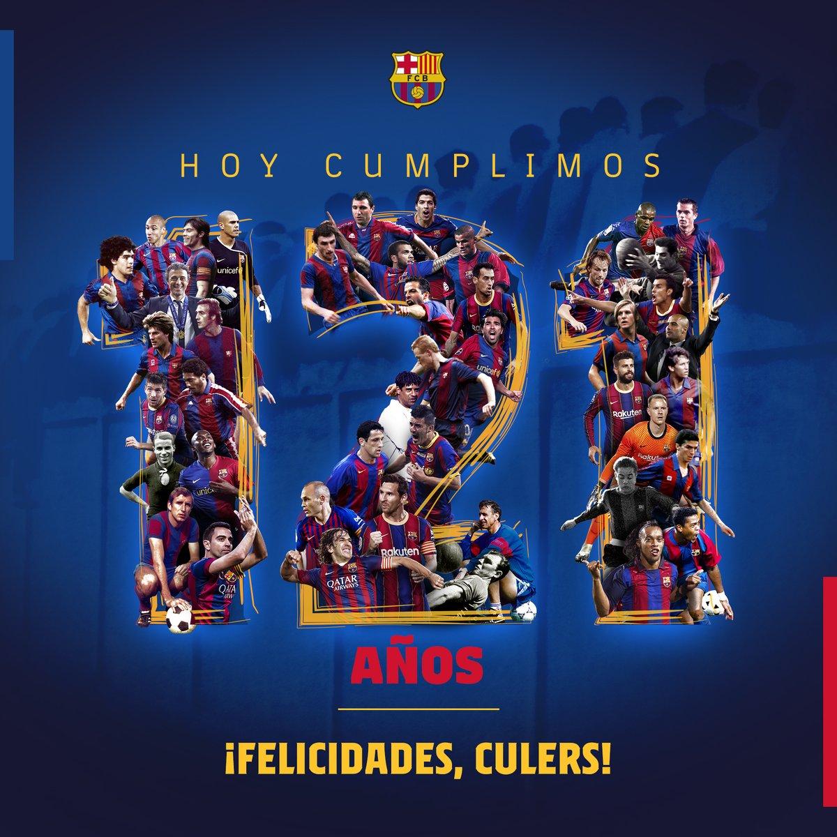 Replying to @FCBarcelona_es: 🎂 1️⃣2️⃣1️⃣ años de historia, 1️⃣2️⃣1️⃣ años siendo #Culers 💙❤️