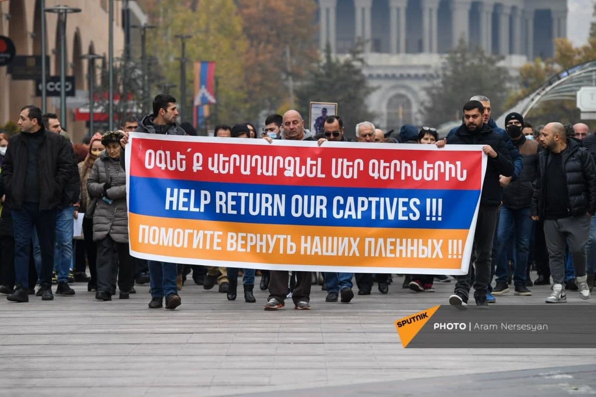 Azerbaijan is holding Armenian POWs and captives and delaying the process of returning them home via @RedCross while humiliating, beating and torturing them in captivity by committing endless war crimes. We demand Azerbaijan a quick return of our Armenian POWs #UntilTheyAreHome https://t.co/NGCPEXzQIm