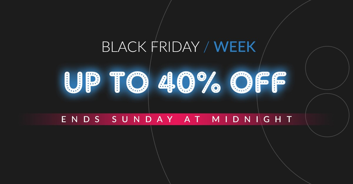 Black Friday week is almost over! 🚀  Save up to 40% on our bestsellers as well as up to £125 off your order 🤩  🛒 Shop now: https://t.co/FgefOIdzAK  Offers end at midnight. Terms apply   #blackfriday #november #deals #cyberweek #discounts #customised #branding https://t.co/Lmsx3gsl7L