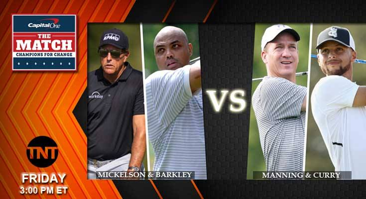2020 Golf Odds Game III Champions for Change: Manning, Curry vs Mickelson, Barkley Predictions, Picks and Previews  The golf betting odds are in favor of Manning and Curry to win this game.  #Championsforchange #Mickelson #Barkley #Manning #Curry