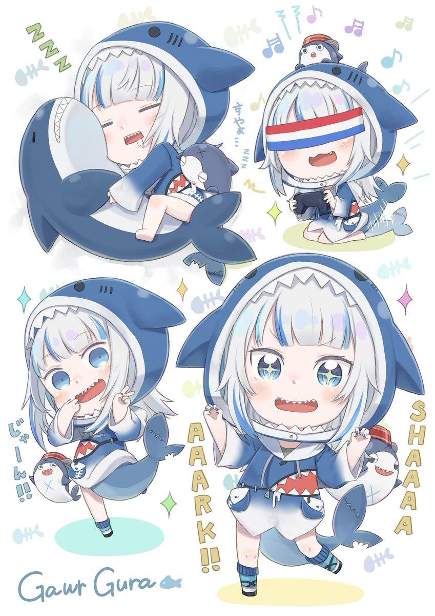Shaaaaaaaaark!!🦈(遅刻) #世界サメの日  #gawrt
