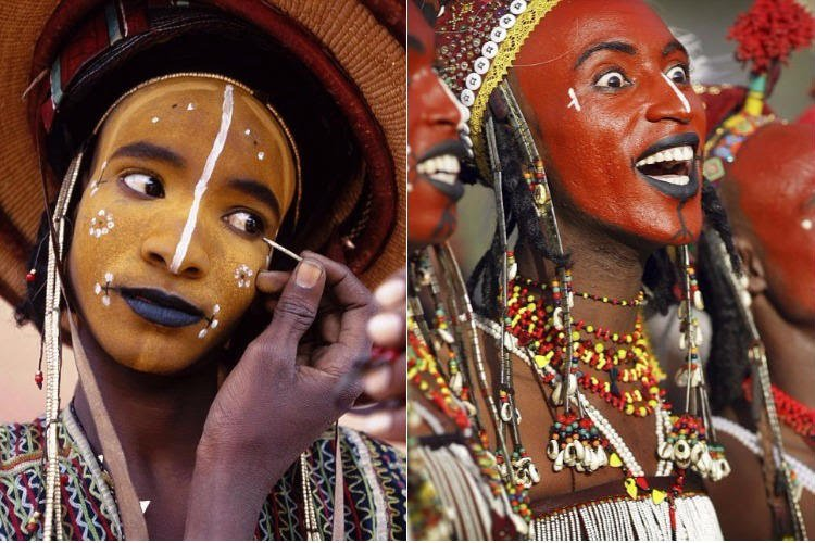 Something you women will like, In the Wodaabe tribe of Morocco, women are allowed to choose a new husband every year. A ceremony is held, where men paint faces, the woman can sleep with as many men as she can on the day untill she finds the right match. Thinking of relocating?😉