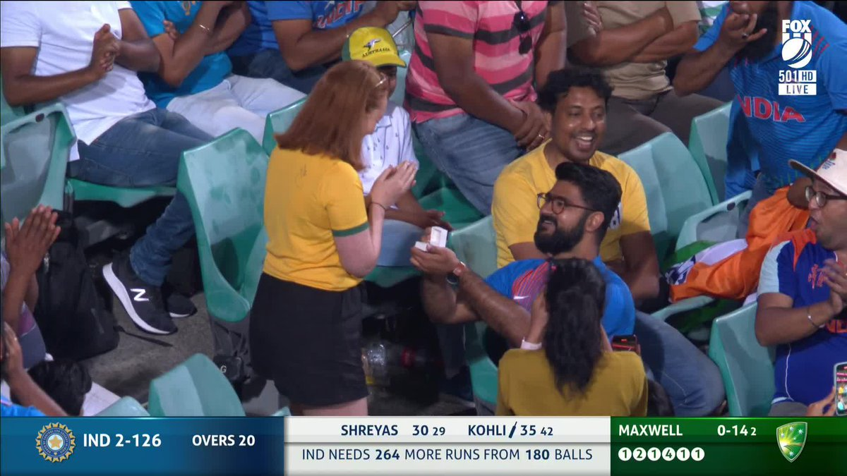 The sweetest moment of #INDvsAUS today....