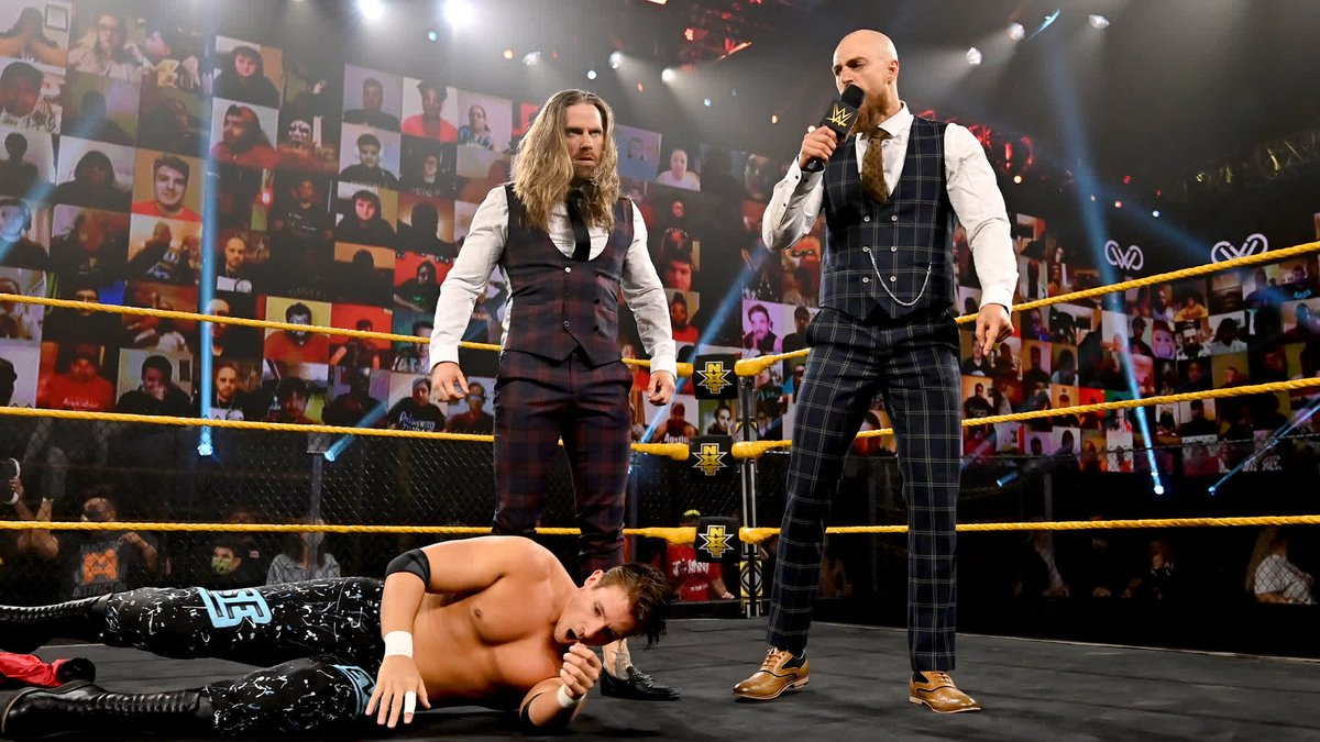.@JamesDrake_GYT & @ZackGibson01 are BACK on #WWENXT and @FightOwensFight is ticked off that they ambushed his buddies @ChaseParkerWWE & @MattMartelWWE! https://t.co/4vvxyVXOca