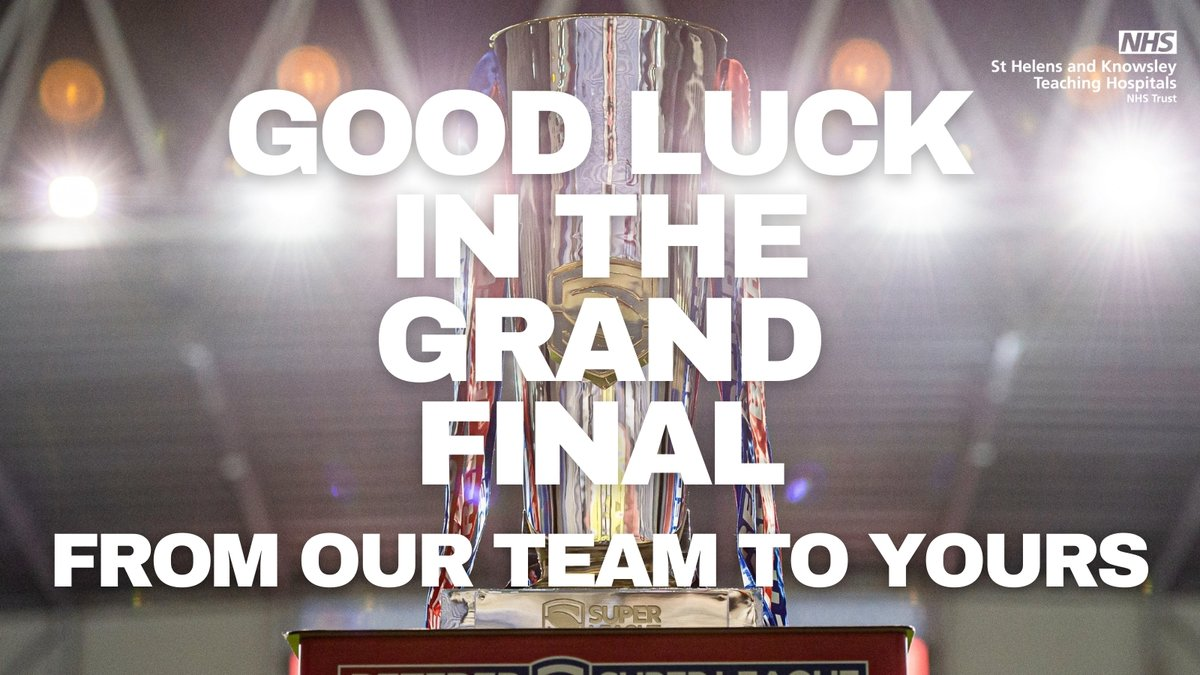 ❤️🤍 COME ON YOU SAINTS 🤍❤️  Sending the best of luck to our friends at @Saints1890 in tonight's @SuperLeague #GrandFinal against Wigan Warriors  We'll all be cheering you on!  #SaintsAndPround #COYS
