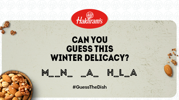 Let's see how many of you can guess this sweet #winter delicacy! 😉  #Haldirams #GuessTheDish #WinterCravings #Dessert https://t.co/0GeWxv3IUQ