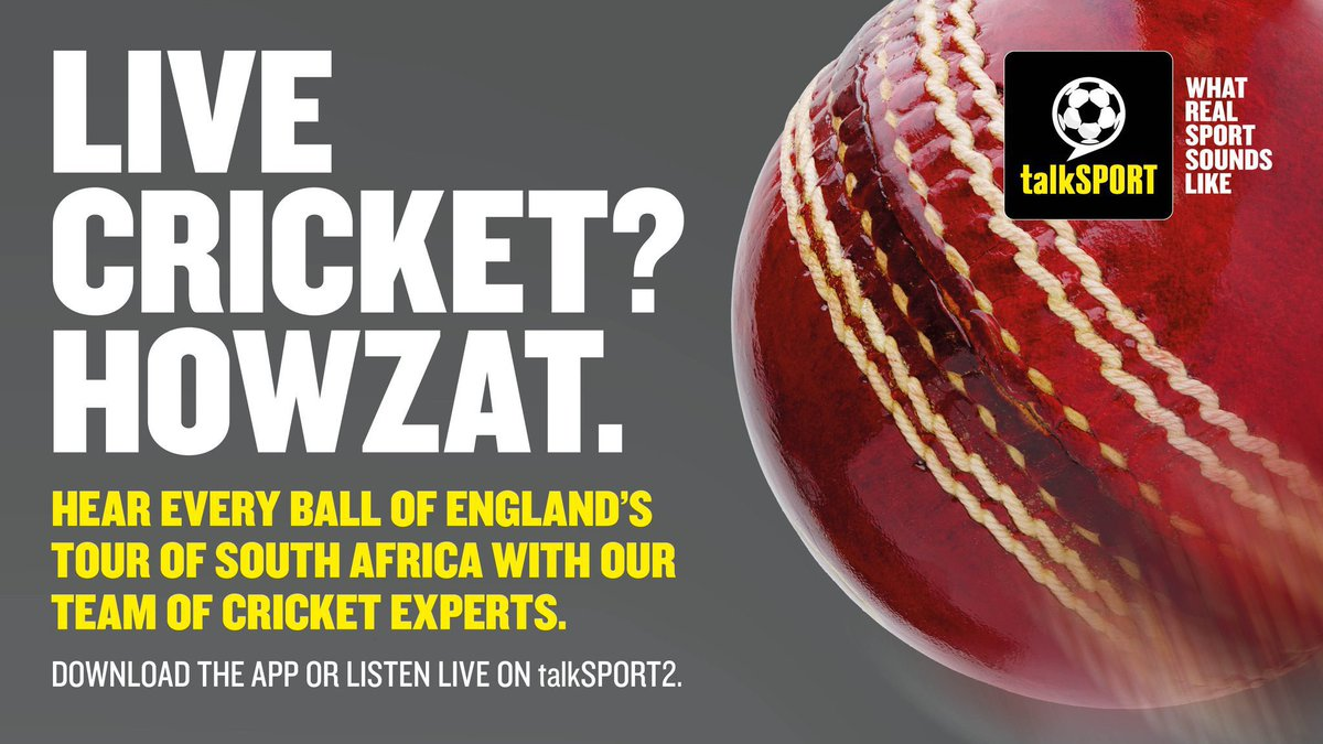 Cricket. Is. Back 😍  @EnglandCricket begin their tour of South Africa with the first of three T20 matches.  🏏 Every ball is live on @talkSPORT2   Join the team on air from 3pm! 👏  It's so easy to listen on our FREE app.  📲 The app → https://t.co/B20m65uOHq https://t.co/SZx63rD4zI