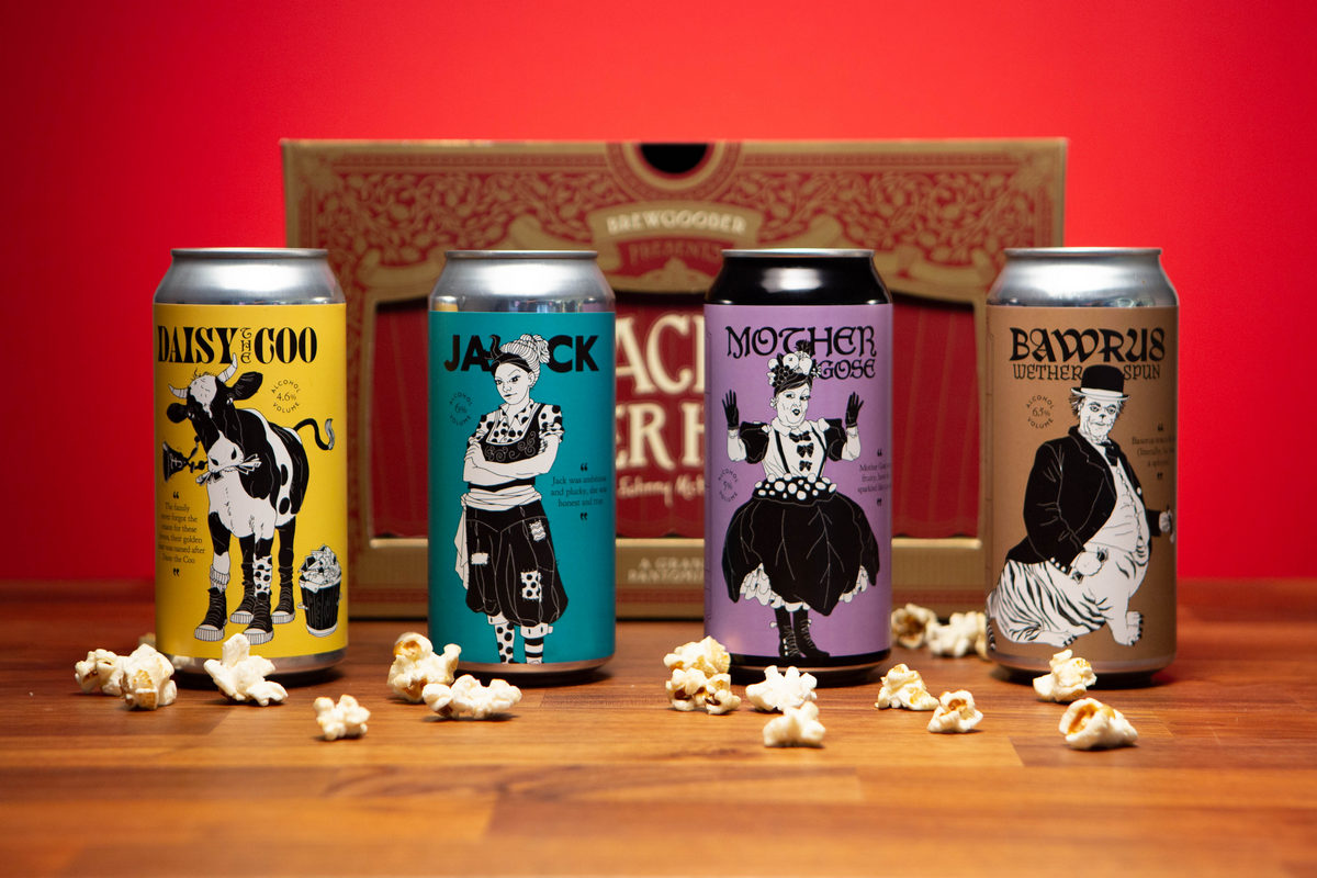 Brewgooder has launched a panto-themed selection box of four beers to raise money to support struggling actors and theatre workers https://t.co/8N7wf7Yuxk #beer #fundraising #theatre #panto @BrewGoodr @GipsyHillBrew @WildBeerCo @mondobrewing https://t.co/VvsJiJjEEv