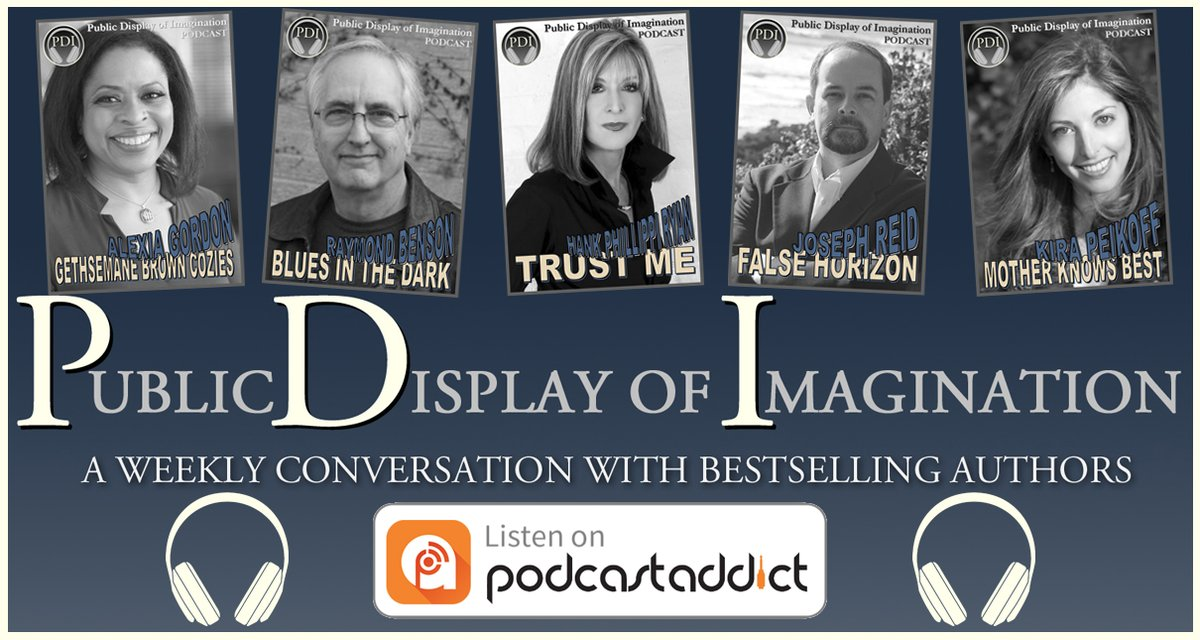 Hear your next favorite author talking about their latest release. Get #PDI #Podcast Adventures as they post. Follow us on #PodcastAddict at- https://t.co/0JaiIBrHzw Subscribe, eavesdrop on the conversations, and post a rating or review. #WritersLife #AmWriting #WritersCommunity https://t.co/5PYVcyii47