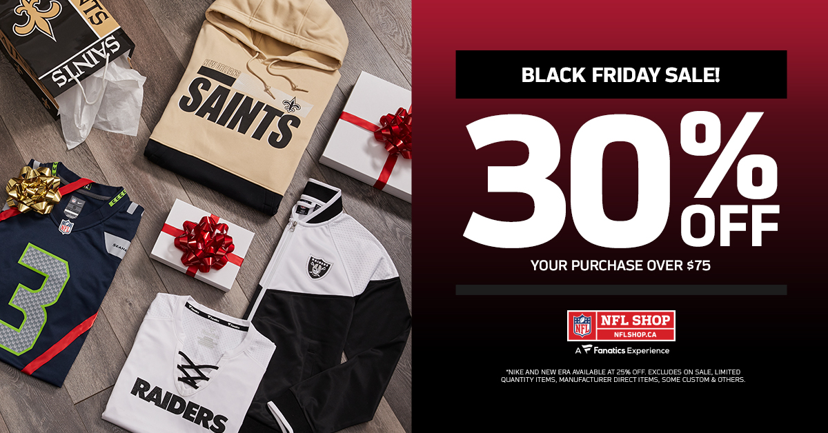 🚨 SALE ALERT 🚨  @OfficialNFLShop is having a 30% off Black Friday Sale! 😍  SHOP NOW: