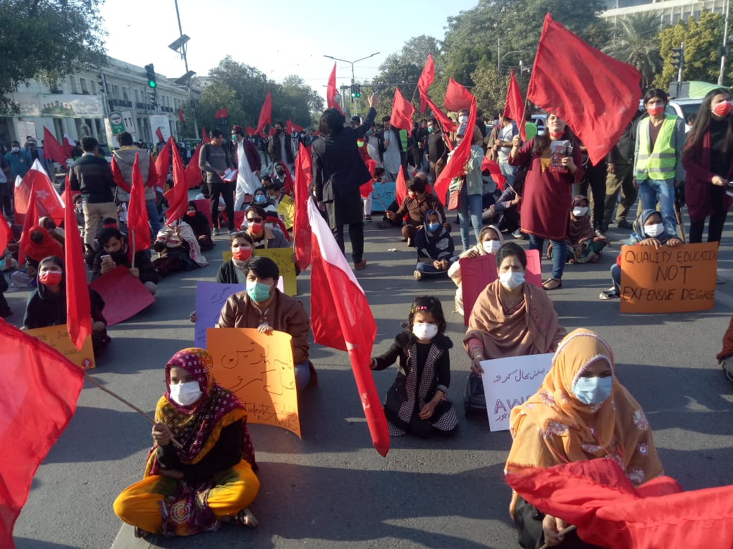 Students Union Restoration March, Charing Cross #Lahore #studentunionrestorationmarch #RestoreStudentUnions