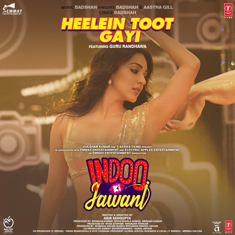 Our new song #HeeleinTootGayi from #IndooKiJawani will make you dance till you drop! Tune in now!   @AdityaSeal_ #MallikaDua @AbirSenguptaa @Its_Badshah @GillAastha @GuruOfficial @adityadevmusic @Ad7777Adil @monishaadvani @madhubhojwani @nikkhiladvani