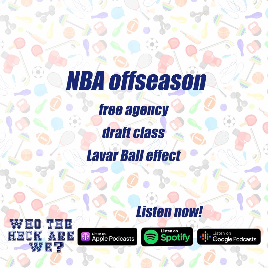🎧 Listen on https://t.co/1LgQ4InWEK  The NBA Bubble may have ended but the action continues off the court! The squad runs through free agency and this year's draft class.  And what is the so-called Lavar Ball effect? Join us to find out! https://t.co/yYiz2Ky8Ft