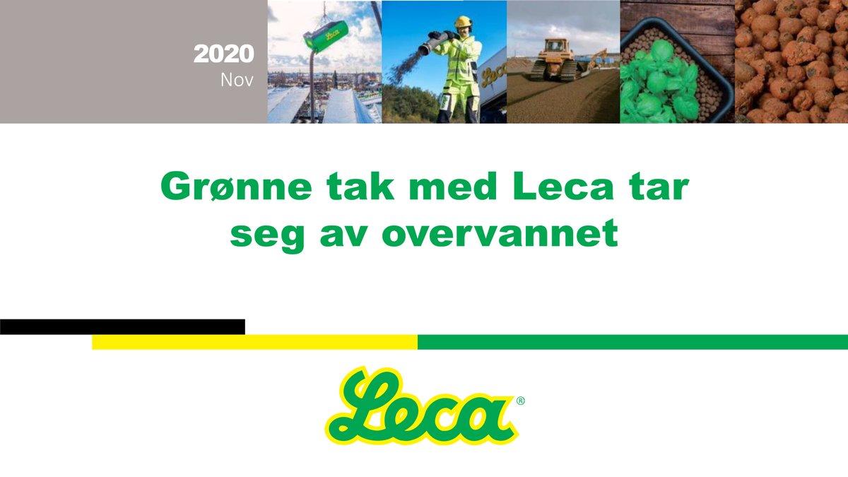 Gikk du glipp av gårsdagens webinar om Leca og grønne tak? Ingen fare, nå kan du se opptaket her. https://t.co/sjpix1PdFd https://t.co/4PbCq8epx7