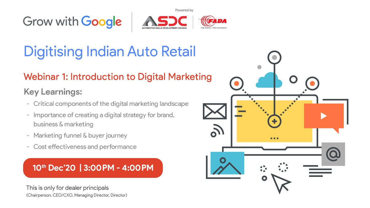 As consumers become more digitally savvy, it's time for dealerships too to strengthen their digital strategy. Register now and get a chance to learn from our experts on how to achieve your business goals.     #GrowWithGoogle #Skilling #SkillingIndia #Skills