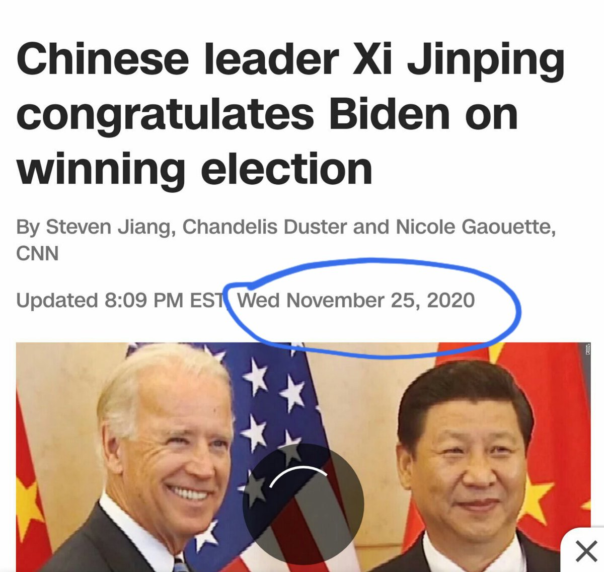 @realDonaldTrump #Xijinping had muted for twenty days but suddenly congratulated Biden right before Powell and Giuliani filed the lawsuits.  Xi is warning Biden not to concede.