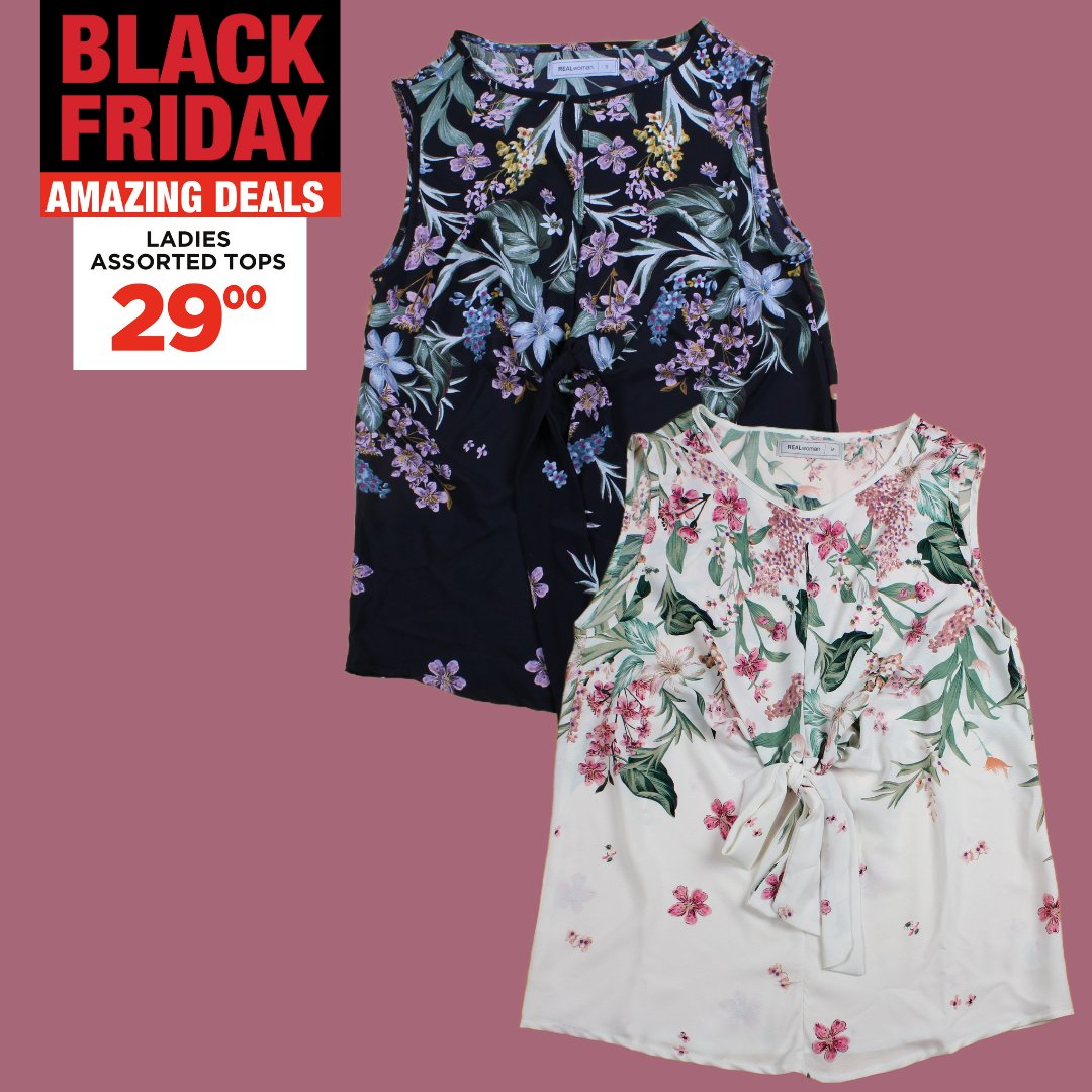 Your Choice this Black Friday with amazing deals in store now!   Ladies Assorted Tops only 29.00 🎀  #choiceclothing #wearchoice #blackfriday