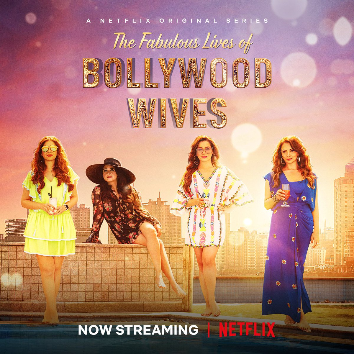 Raise your glasses and get ready to indulge in the #FabulousLives of Bollywood Wives! 🥂 🤩 Now streaming on @NetflixIndia   @maheepkapoor @neelamkothari @seemakkhan @bhavanapandey @apoorvamehta18 @aneeshabaig @scrappypants #UttamDomale