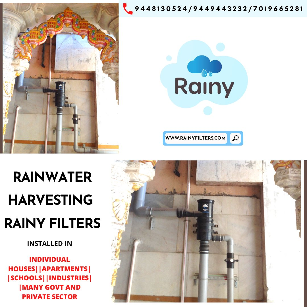 #Rooftop RWH Filters #Rainy Dual-Intensity filters work at high efficiency regardless of the intensity of #rainfall and have self-cleaning abilities. At nominal prices, our #filters are market leaders in Rooftop #RWH #merijalpratigya #missionpaani #paani #water