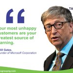 Your most unhappy customers are your greatest source of learning -Bill Gates, Founder of Microsoft Corporation #FridayQuotes #StaySafeStayHome #TAC Professional Services #BusinessConsultingProfessional&FinancialAdvisoryServices