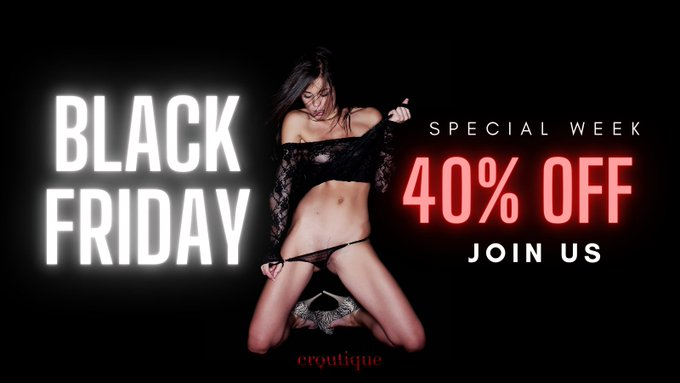 Beauty, sexiness and real pleasure: check out our special #BlackFriday and join us! 💥⚡️ 👉 https://t.co/mrZogWgtPm  #eroutiqueofficial