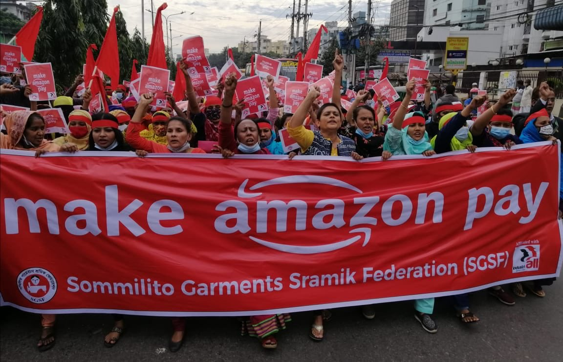 Workers & Activists Protest Amazon